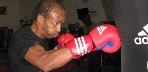 Brahim Hanafi en plein entraînement de Full Contact